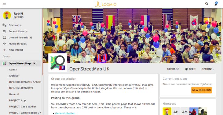 The OSMUK group on Loomio