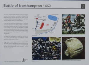 Battle of Northampton information board