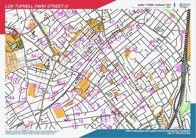 Street-O orienteering map